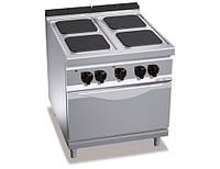 Плита электрическая GGM EHB899H+EB8S 4 квадратных конфорок (14 кВт) + электрическая статическая печь (7,5 кВт)