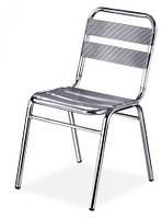 Алюминиевый стул без подлокотников