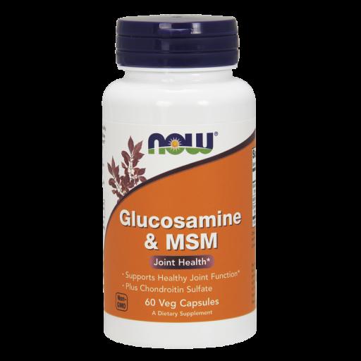 Хондропротектор NOW Glucosamine & MSM 60 veg caps