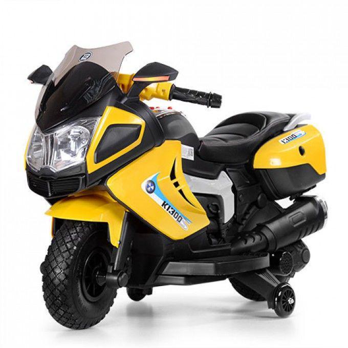 Детский мотоцикл Bambi Желтый (M 3625EL-6) с мягким сиденьем