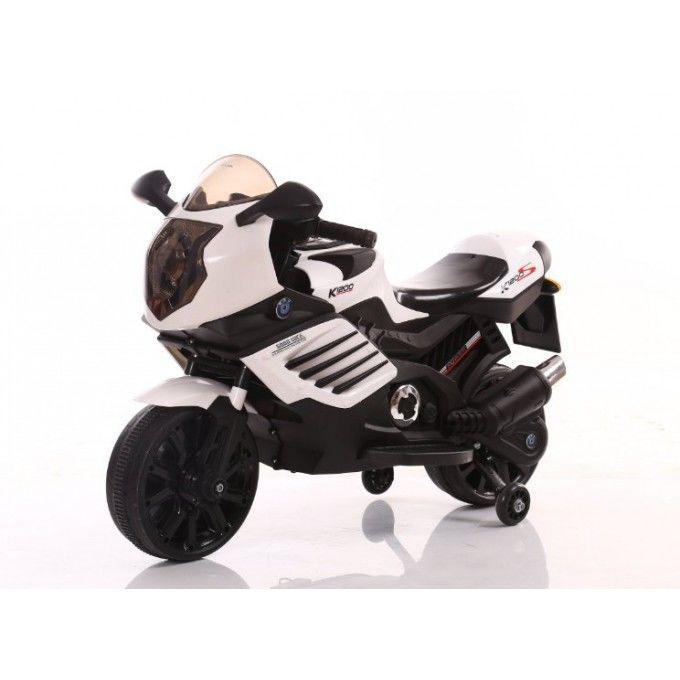 Детский мотоцикл Tilly (T-7212 WHITE) c двумя моторами