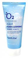 Кислородная пенка для умывания Farm Stay O2 Premium Aqua Foam Cleansig, 100ml