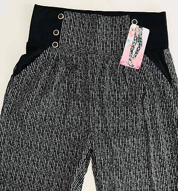 Женские лосины брюки с карманами 46-50 широкий пояс, фото 2