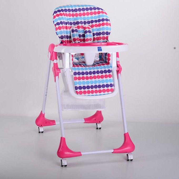 Детский стульчик для кормления Bambi (M 3233-11) Розовый