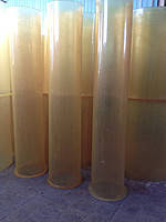 Труба полиуретановая с фланцем диаметр D=200мм, длина L=2000мм, толщина стенки вставки b=3мм, твердость 90(+/-