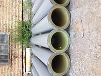 Труба полиуретановая с фланцем диаметр D=300мм, длина L=2000мм, толщина стенки вставки (b=3-5мм), твердость 90