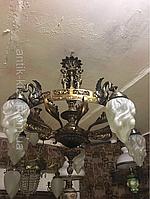 Антикварная бронзовая люстра старинная люстра лампа светильник