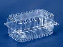 Одноразовый контейнер для продуктов с крышкой ПС-120 (V1550мл\230*130*78) (50 шт/пач)