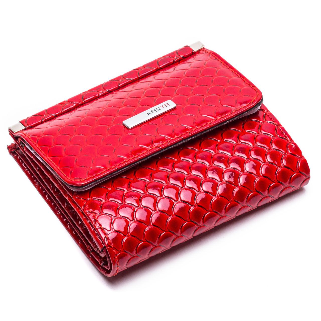 Маленький женский кожаный кошелек Karya 1066-122 красный