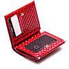 Маленький женский кожаный кошелек Karya 1066-122 красный, фото 4