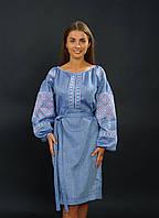Платье с украинской вышивкой, лен, арт. 4145