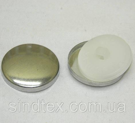 SALE Пуговица под обтяжку тканью на белой ножке  №40 (24мм), фото 2