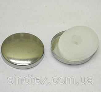 SALE Пуговица под обтяжку тканью на белой ножке  №40 (24мм)
