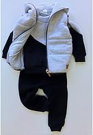Детский костюм тройка с начесом р.80-128, фото 1