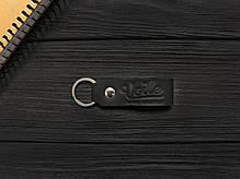 Мужской кожаный бумажник ручной работы VOILE vl-mw4-blk, фото 3