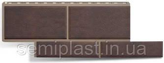 Фасадная панель Камень Флорентийский Коричневый Альта-Профиль