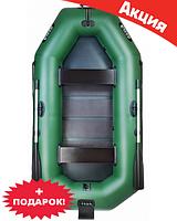 Трехместная надувная лодка Ладья ЛТ-290ЕСТБ. Моторно-Гребная;