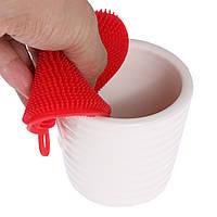 Силиконовая губка для мытья посуды, диаметр 10 см