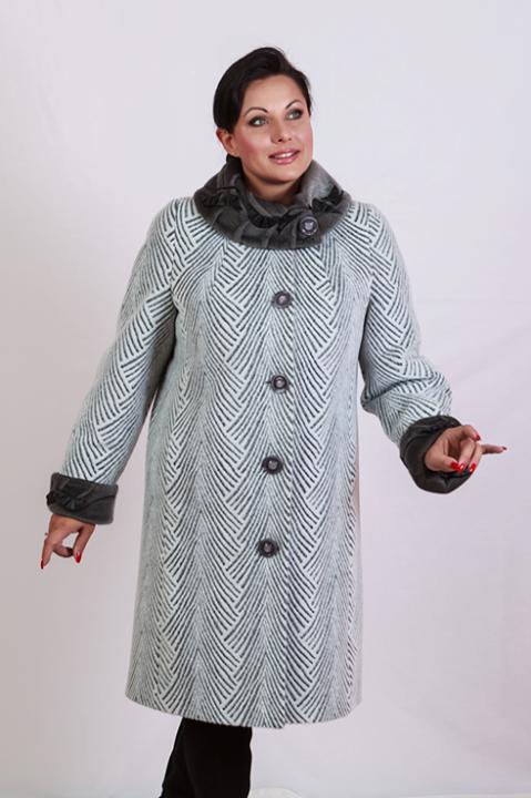 Пальто женское утепленное Almatti модель OE-5814 серое