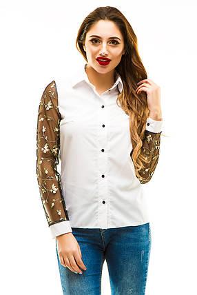 Блузка 273 белая, фото 2
