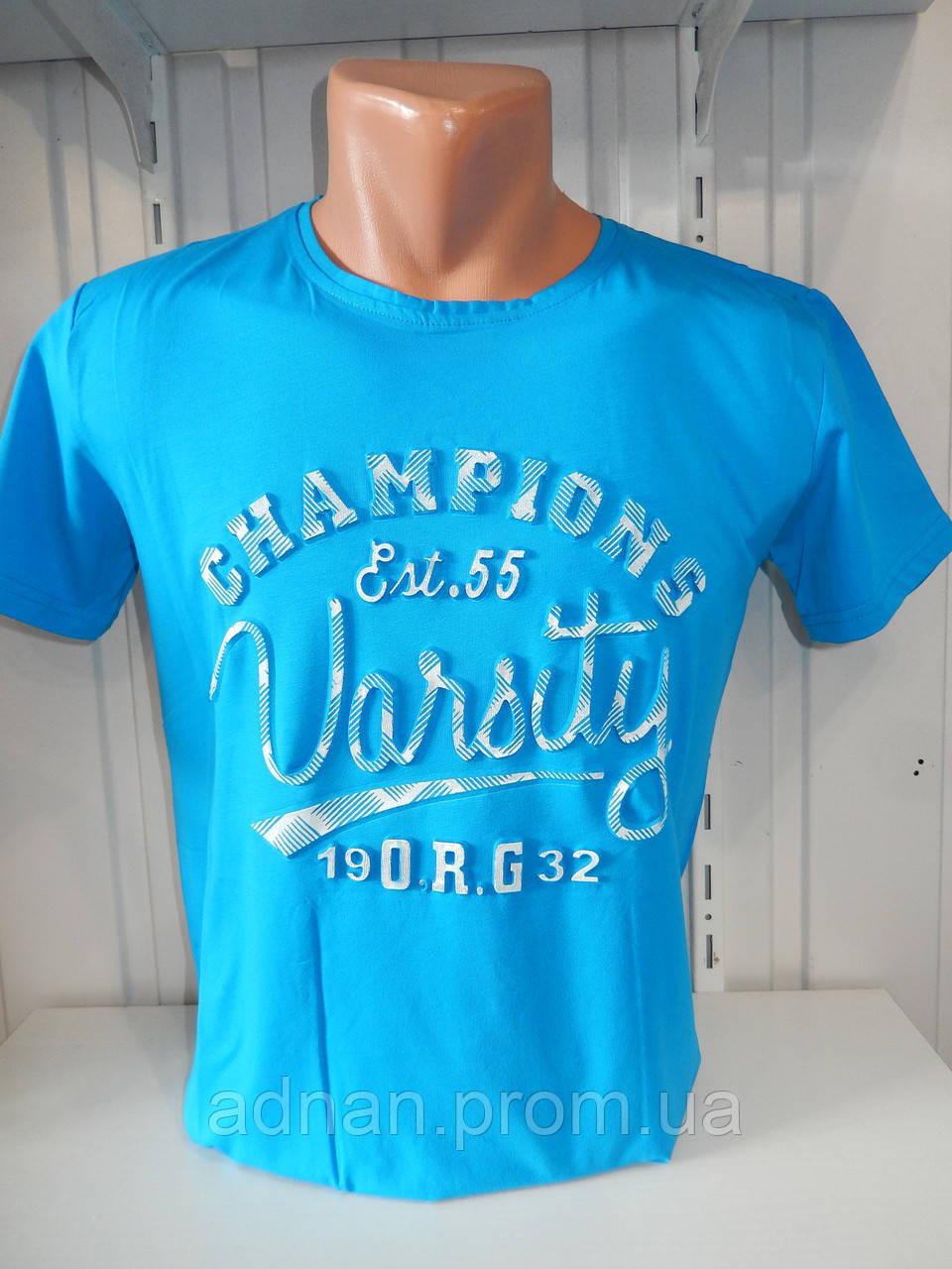 Футболка мужская 3Д RBS  стрейч коттон VARCITY 002 \ купить футболку мужскую оптом
