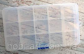 Органайзер пластиковий №04, 17х10х2см. 15 комірок