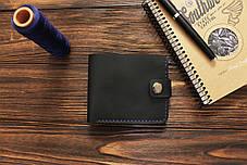 Мужской кожаный кошелек ручной работы VOILE vl-cw1-blu, фото 2