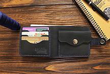 Мужской кожаный кошелек ручной работы VOILE vl-cw1-blu, фото 3
