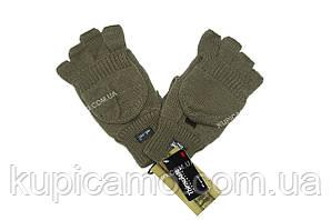 "Перчатка - варежка ""Олива"" беспалые с клапаном -30 Thinsulate  ""MIL-TEC"" Германия"