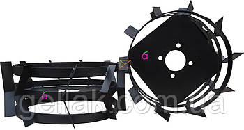 Грунтозацепы к мотоблоку (железные колёса) Ø 380 мм из профтрубы