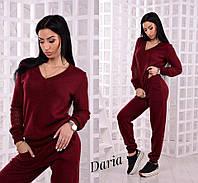 Практичный женский костюм красивого цвета марсала Daria, фото 1