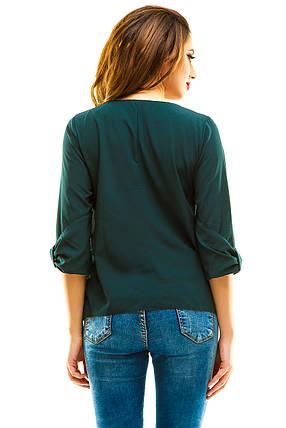 Блузка 271 темно-зеленая, фото 2
