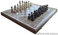 Деревянные шахи - нарди 3в1 ручной работы инкрустированные металом нарды