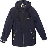 """Куртка подростковая демисезонная """"J17"""" #1721 для мальчиков. 10-11-12-13-14 лет. Синяя. Оптом., фото 1"""