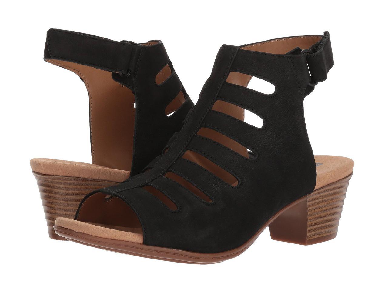 Туфли на каблуке (Оригинал) Clarks Valarie Shelly Black Nubuck