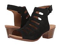 Туфли на каблуке (Оригинал) Clarks Valarie Shelly Black Nubuck, фото 1