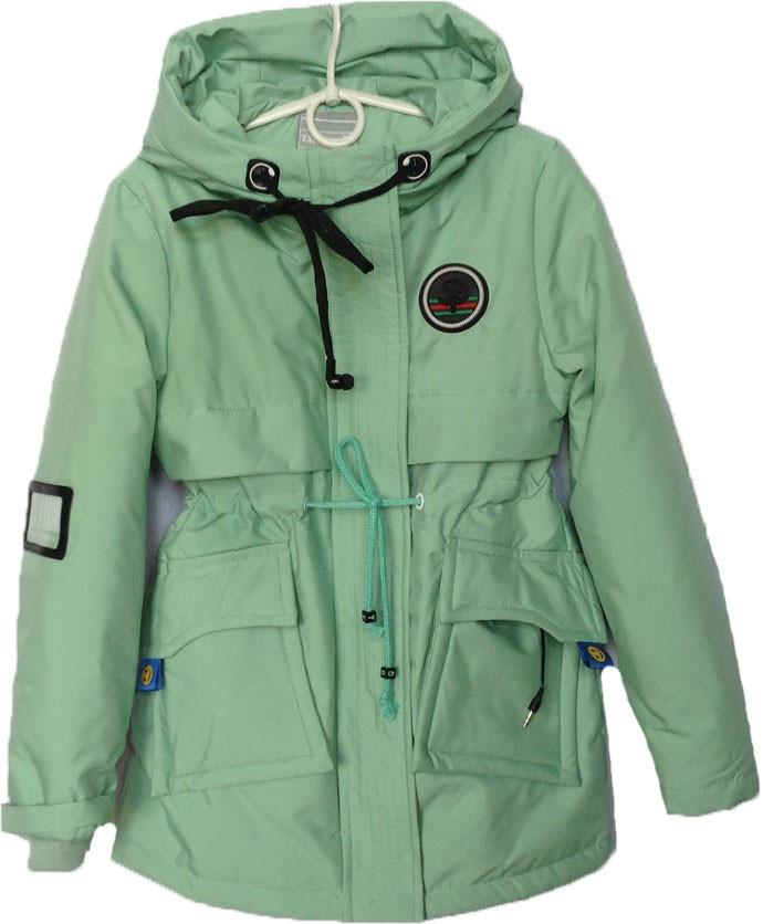 """Куртка подростковая демисезонная """"Fashion"""" #HL-0899 для девочек. 9-10-11-12-13 лет. Мятная. Оптом."""