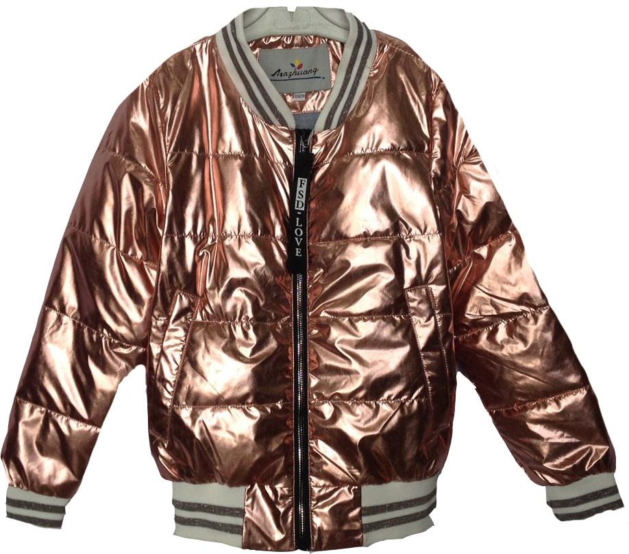 """Куртка-ветровка подростковая """"FSD*Love""""  #NK-8826 для девочек. 9-10-11-12-13 лет. Медная. Оптом."""