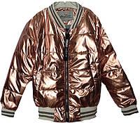 """Куртка-ветровка подростковая """"FSD*Love""""  #NK-8826 для девочек. 9-10-11-12-13 лет. Медная. Оптом., фото 1"""
