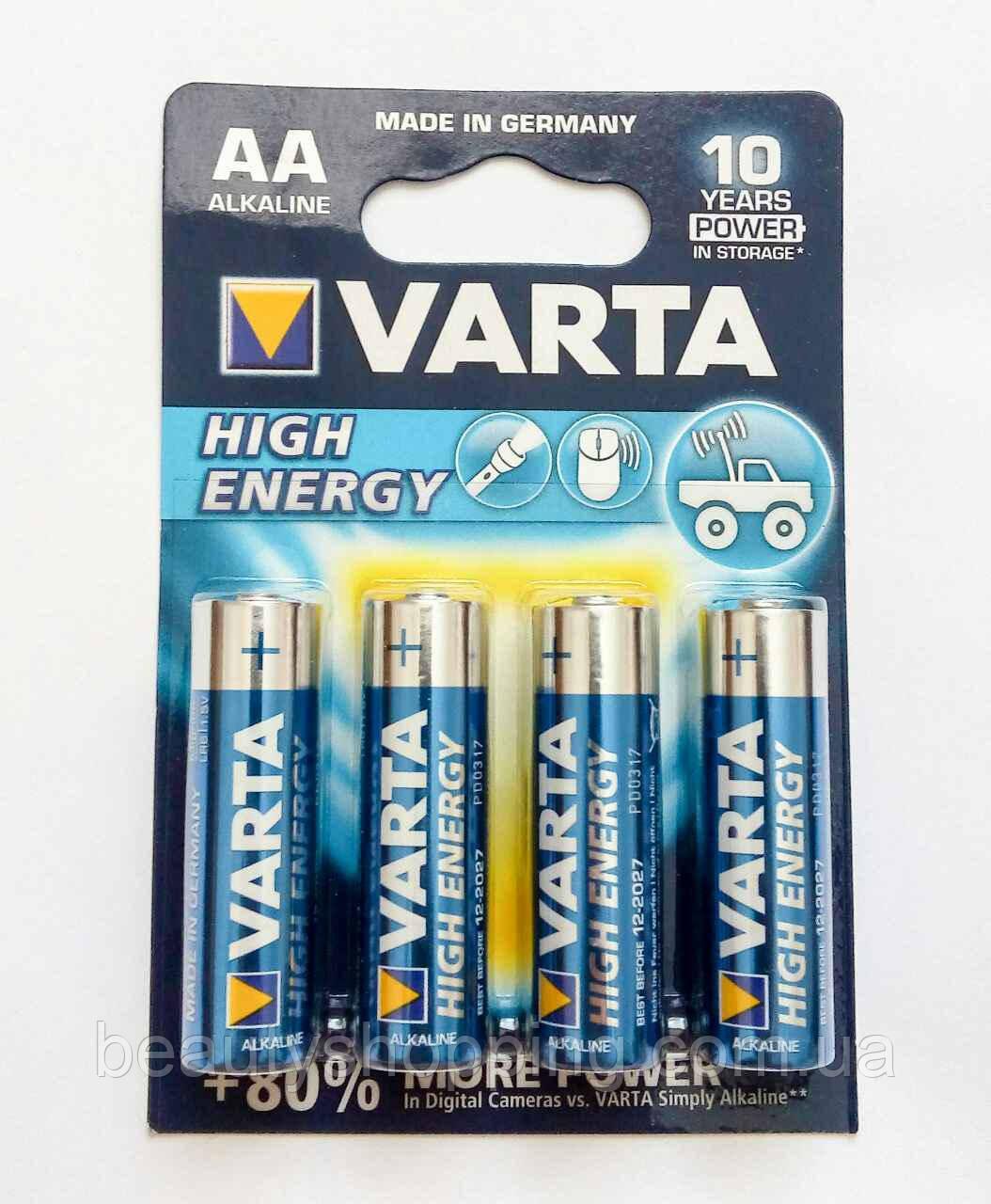 Батарейка Varta High Energy Alkaline AA 4 шт