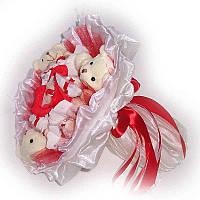Букет из мягких игрушек Мишки 3 с конфетами Рафаэлло 7