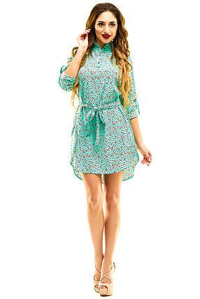 Платье- рубашка 274 мята, фото 2