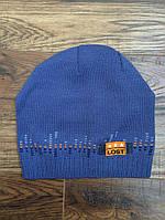 Шапка, шапочка весенняя, вязаная для мальчика 52-54, Ambra, Польша