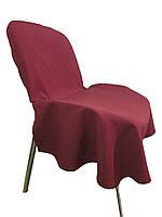 Чехол накидка на офисный стул Atteks бордовый - 1351