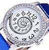 Часы женские синие со стразами, фото 2