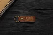 Мужской кожаный бумажник ручной работы VOILE vl-mw4-lbrn-beg, фото 3