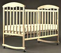 Кровать НАТАЛКА нелакированная с дугой и колесами.