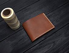 Мужской кожаный бумажник ручной работы VOILE vl-mw4-lbrn-beg, фото 2