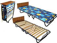 Раскладная кровать на ламелях ,раскладушка « Витязь » с матрасом