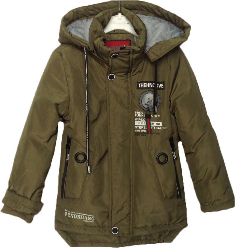 """Куртка детская демисезонная """"ZSK"""" #ZSK-2 для мальчиков. 5-6-7-8-9 лет. Оливковая. Оптом."""